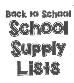 Central Elementary School Supply Lists