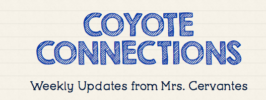 Coyote Connections Newsletter 8-23-20