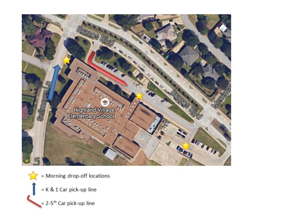 Drop Off Pick Up Map