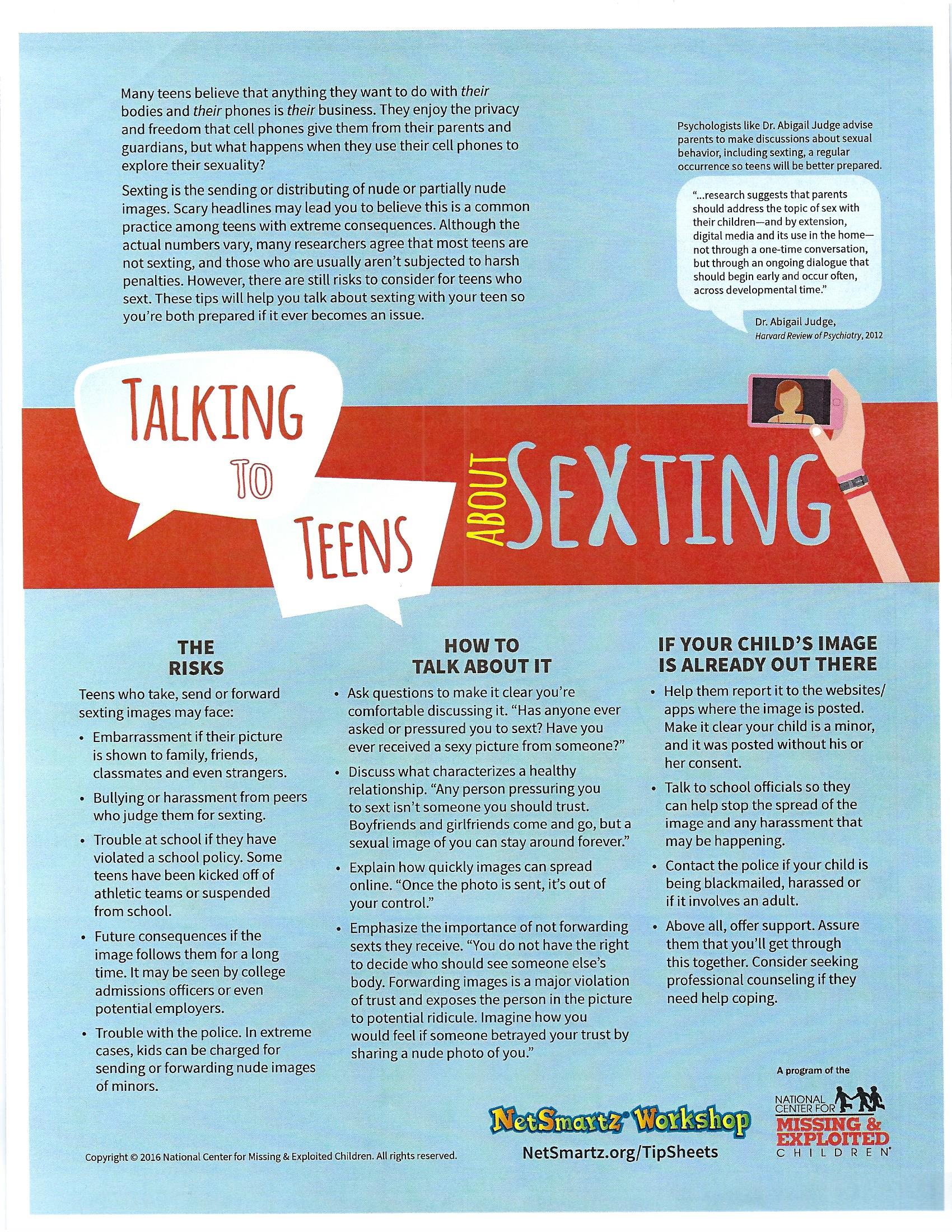 Talking to Teens about Texting