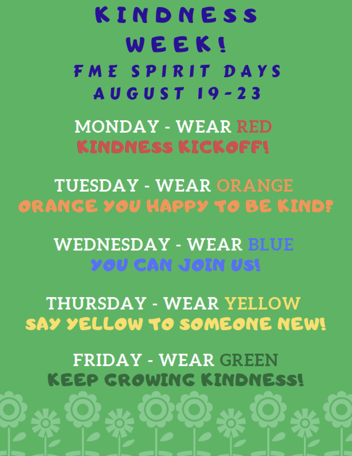 FME Spirit Days