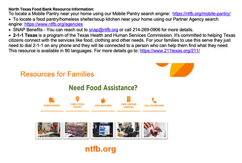 Food Bank Resources
