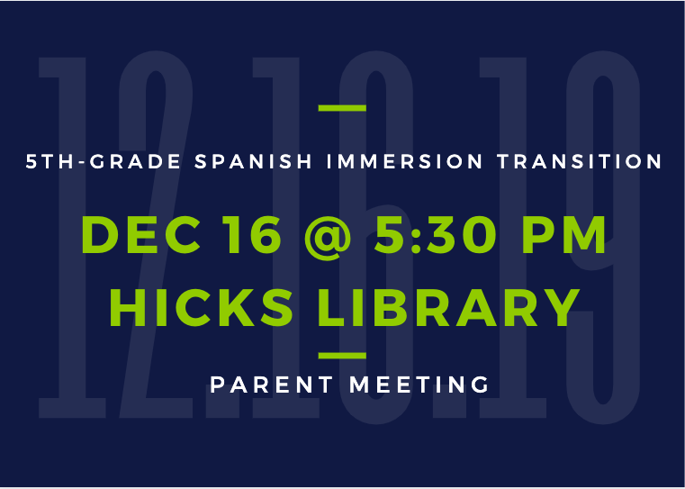 5th-Grade SI Transition Parent Meeting