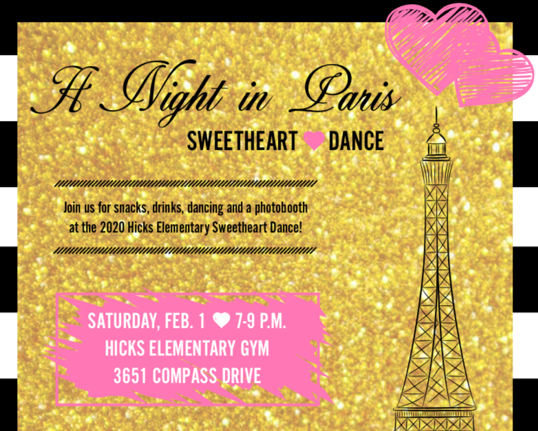 """A Night in Paris"" Sweetheart Dance"