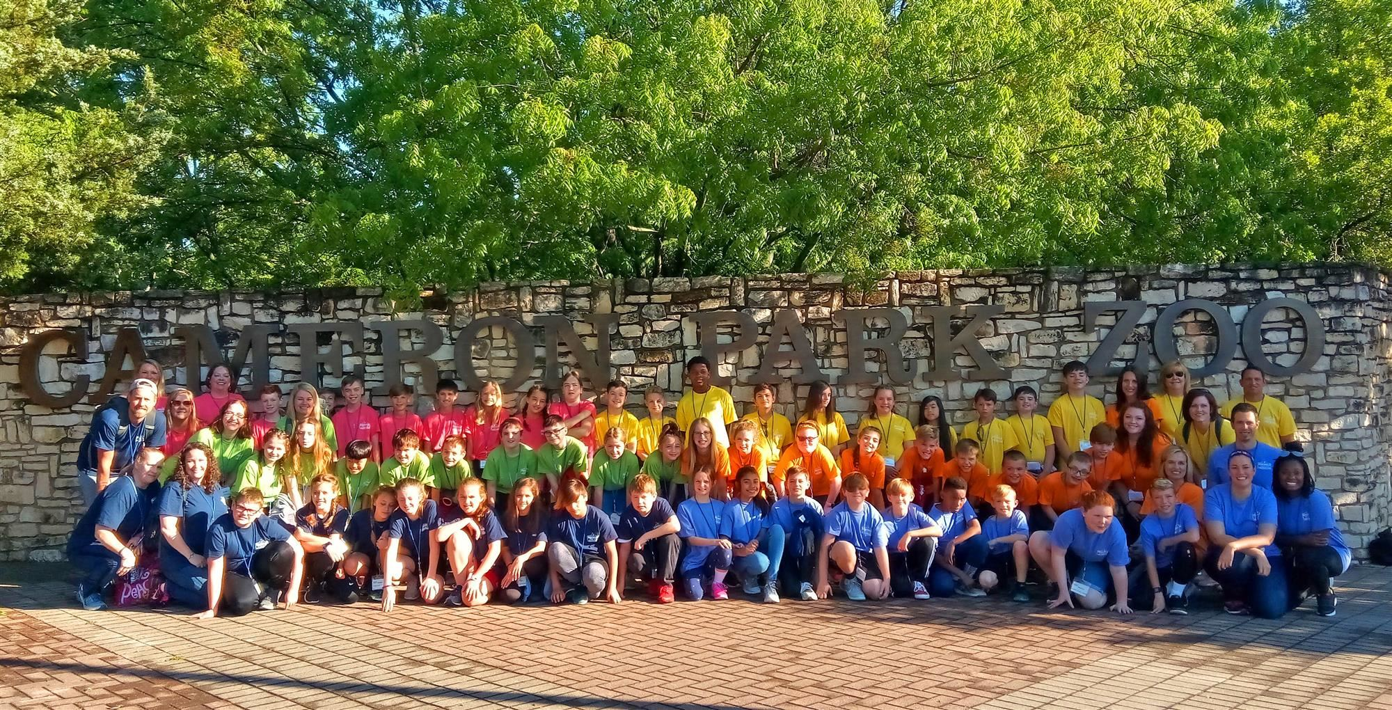 Highland Village Elementary fifth graders travel to Cameron Park Zoo, Waco Mammoth National Monument, and Inner Space Cavern
