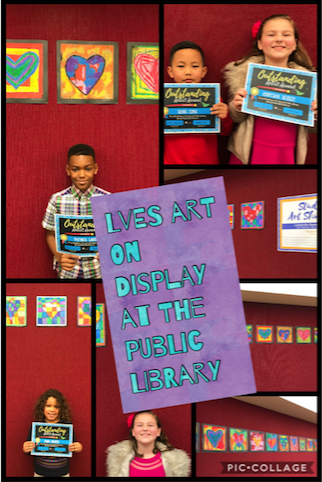 Student Art Work on Display at the Lewisville Public Library