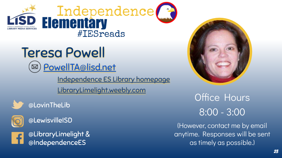 Contact information for Independence Elementary Library