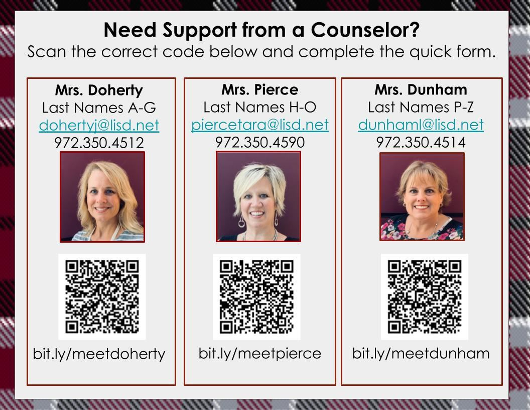 QR Code for Counselor Requests