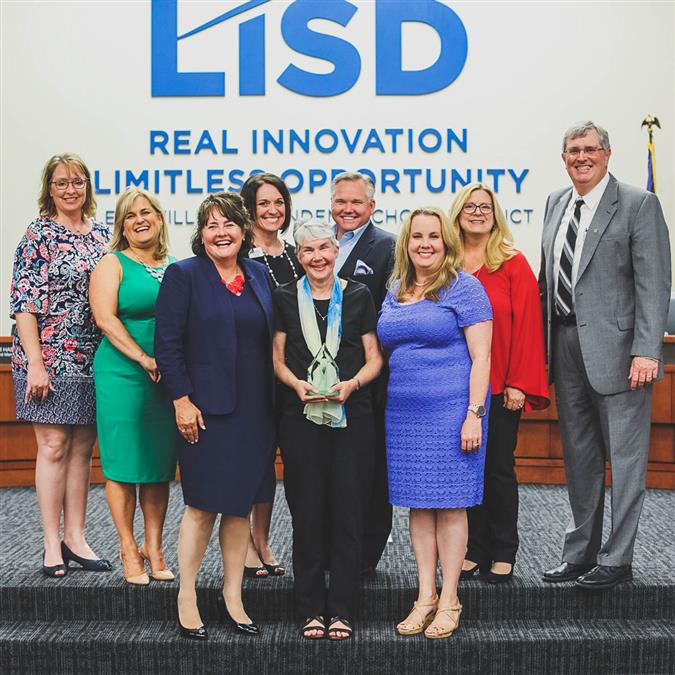 Lewisville ISD Board of Trustees 2018 Champion for Kids Award