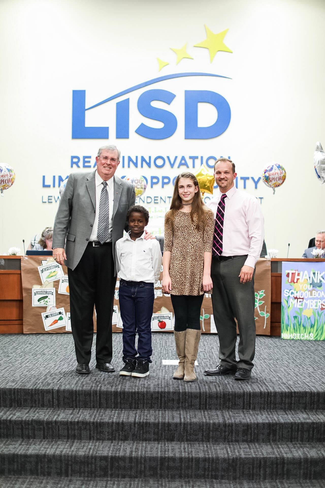 LISD Board Meeting Jan. 2019 Heritage Elementary Pledge