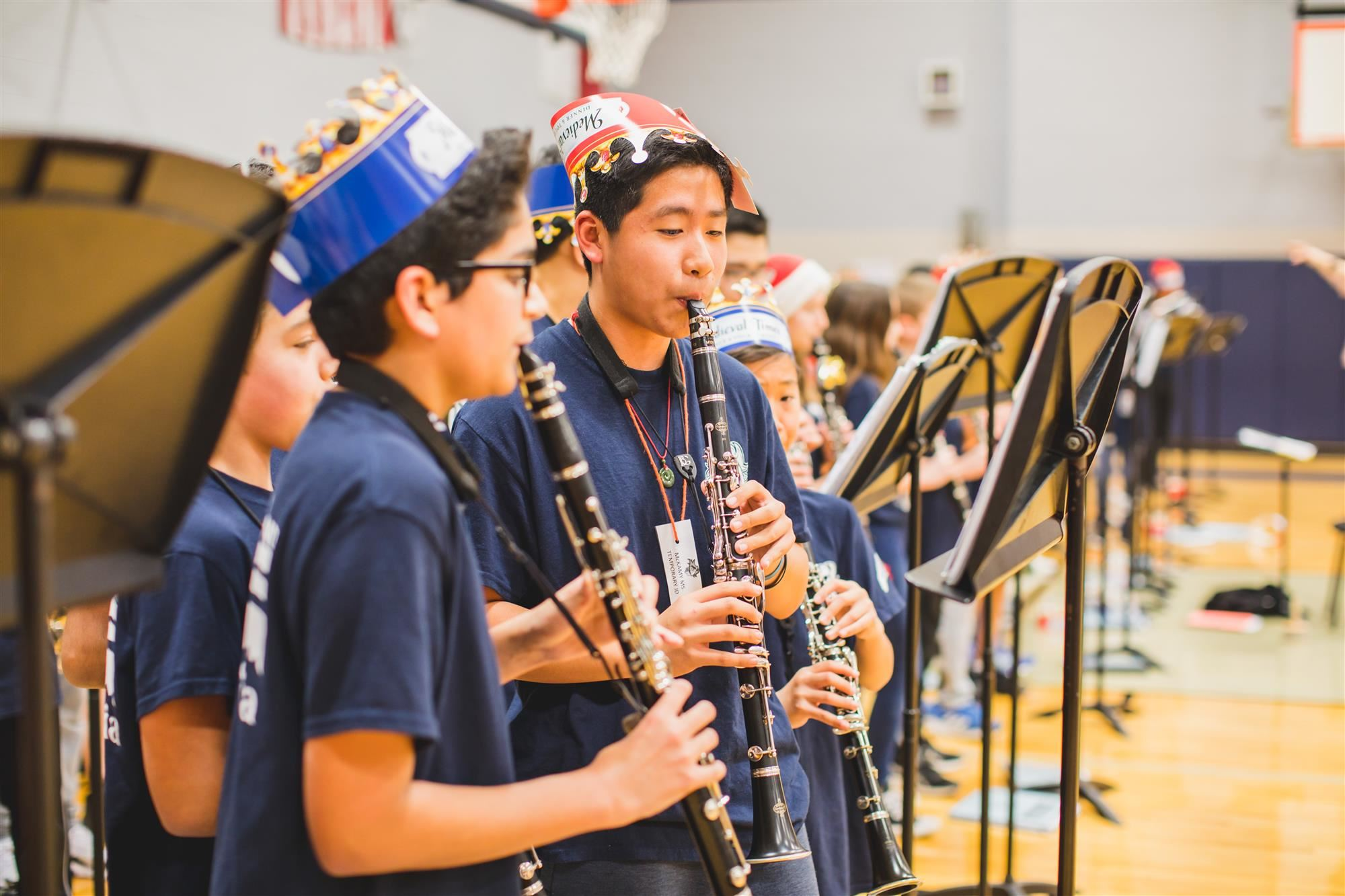 McKamy Middle School band members perform during pep rally. 2019