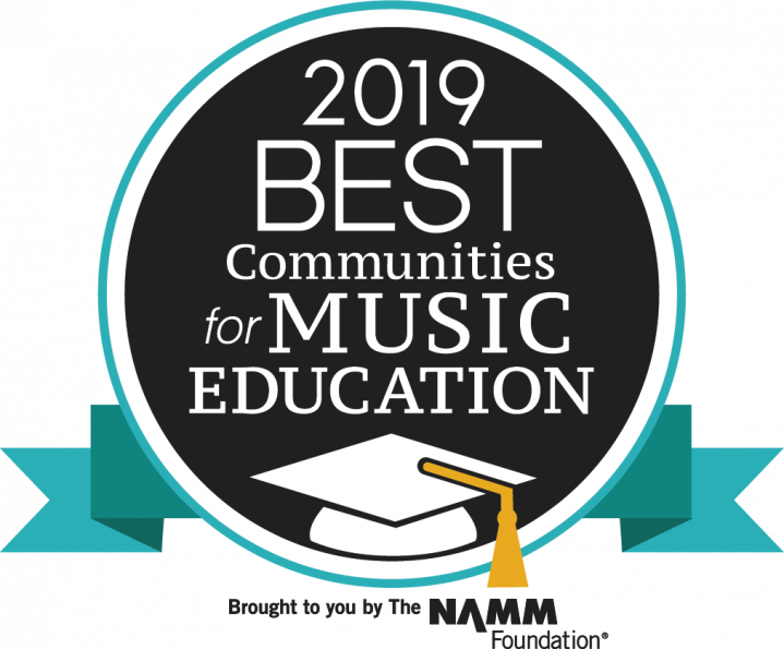 Lewisville ISD 2019 Best Communities for Music Education Award