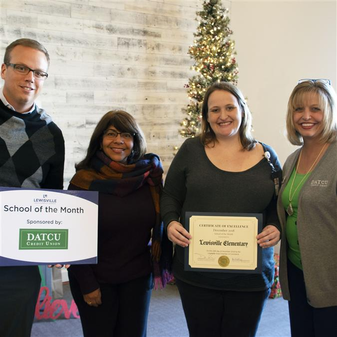 Lewisville Elementary Named Lewisville Area Chamber of Commerce/DATCU December School of the Month