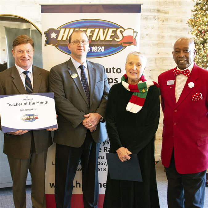 Hedrick Middle School's Large Named Lewisville Area Chamber of Commerce/Huffines Auto Dealership November Teacher of the Month