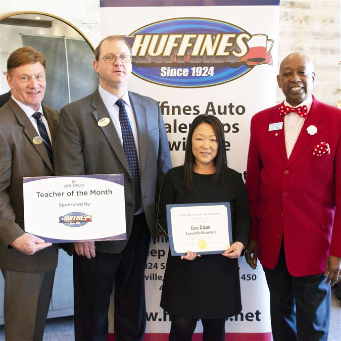 Lewisville Elementary's Kilam Named Lewisville Area Chamber of Commerce/Huffines Auto Dealership December Teacher of the Month