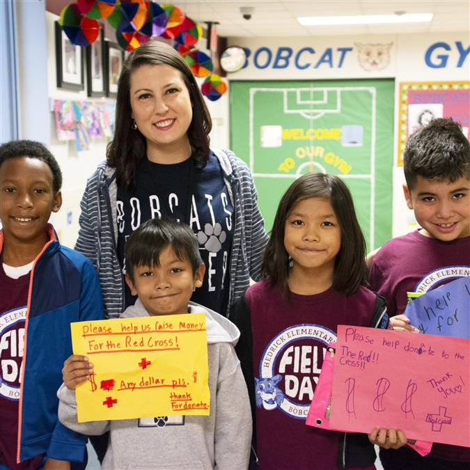 Hedrick Elementary Students Making a Difference