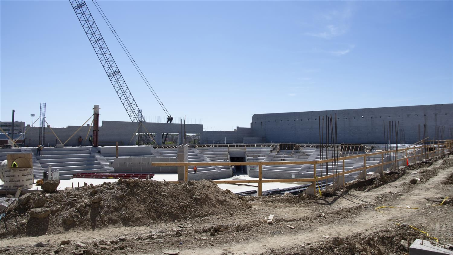 Construction Ongoing for Hebron High School's Multi-Purpose Facility/Indoor Athletic Center