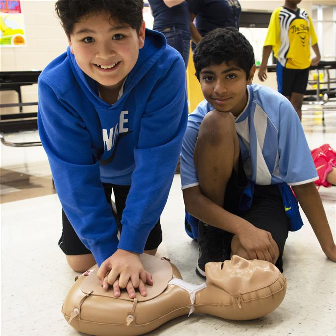 WATCH: All Morningside Elementary 5th Graders Receive CPR Hands-Only Training