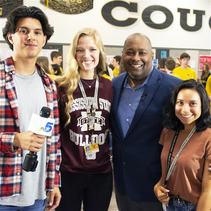 "NBC 5 Features The Colony High School for ""Brag About Your School"" Segment"