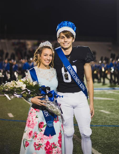 Hebron Homecoming king and queen