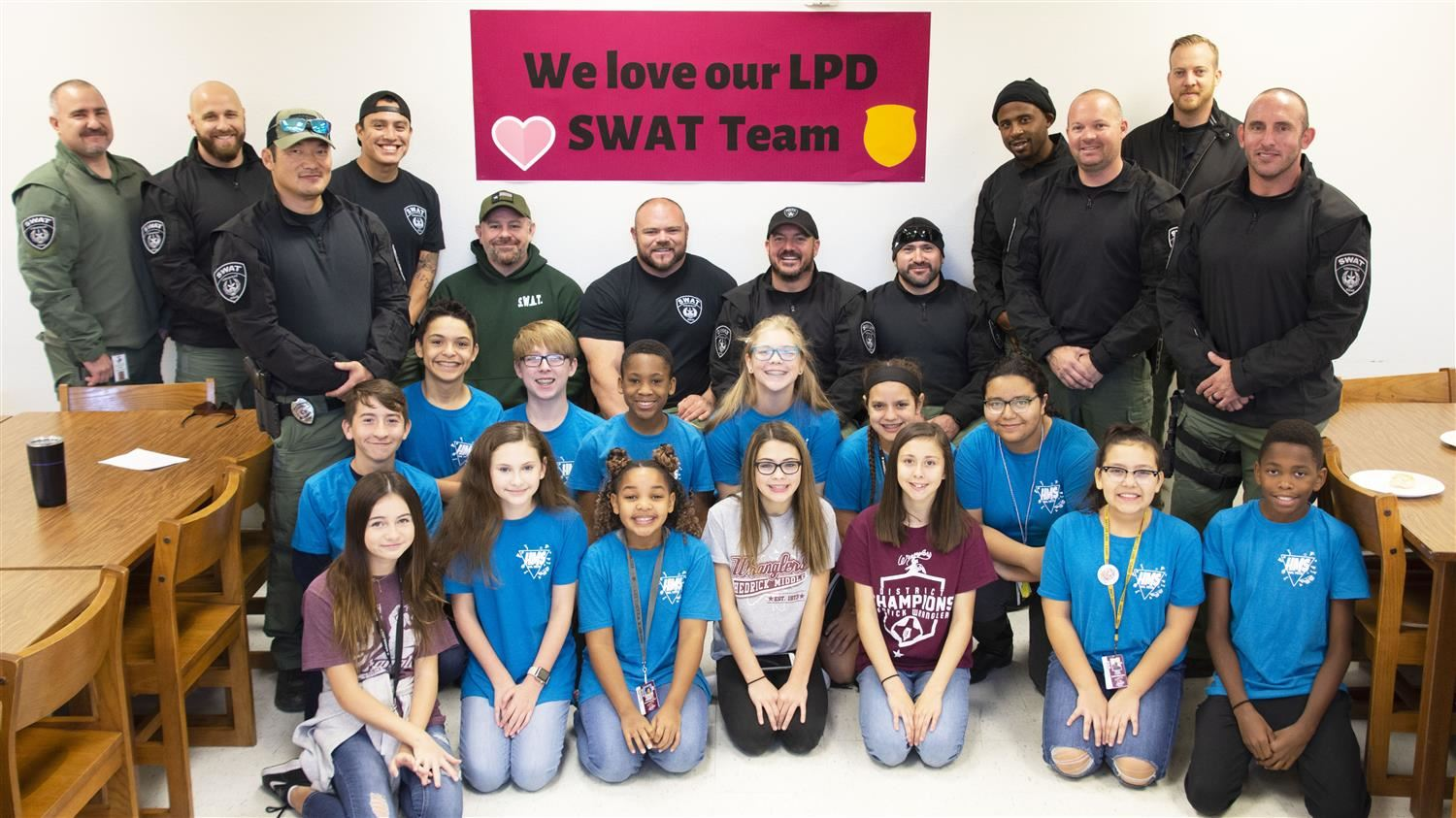 Students Create Memorable Morning for Lewisville Police Department's SWAT Team