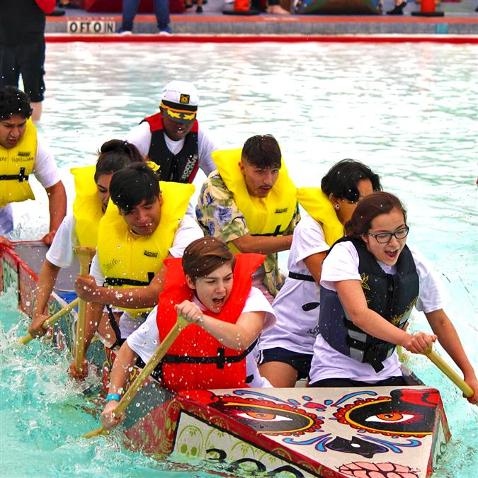LHS Harmon Competes in 29th Annual River Legacy Cardboard Boat Regatta