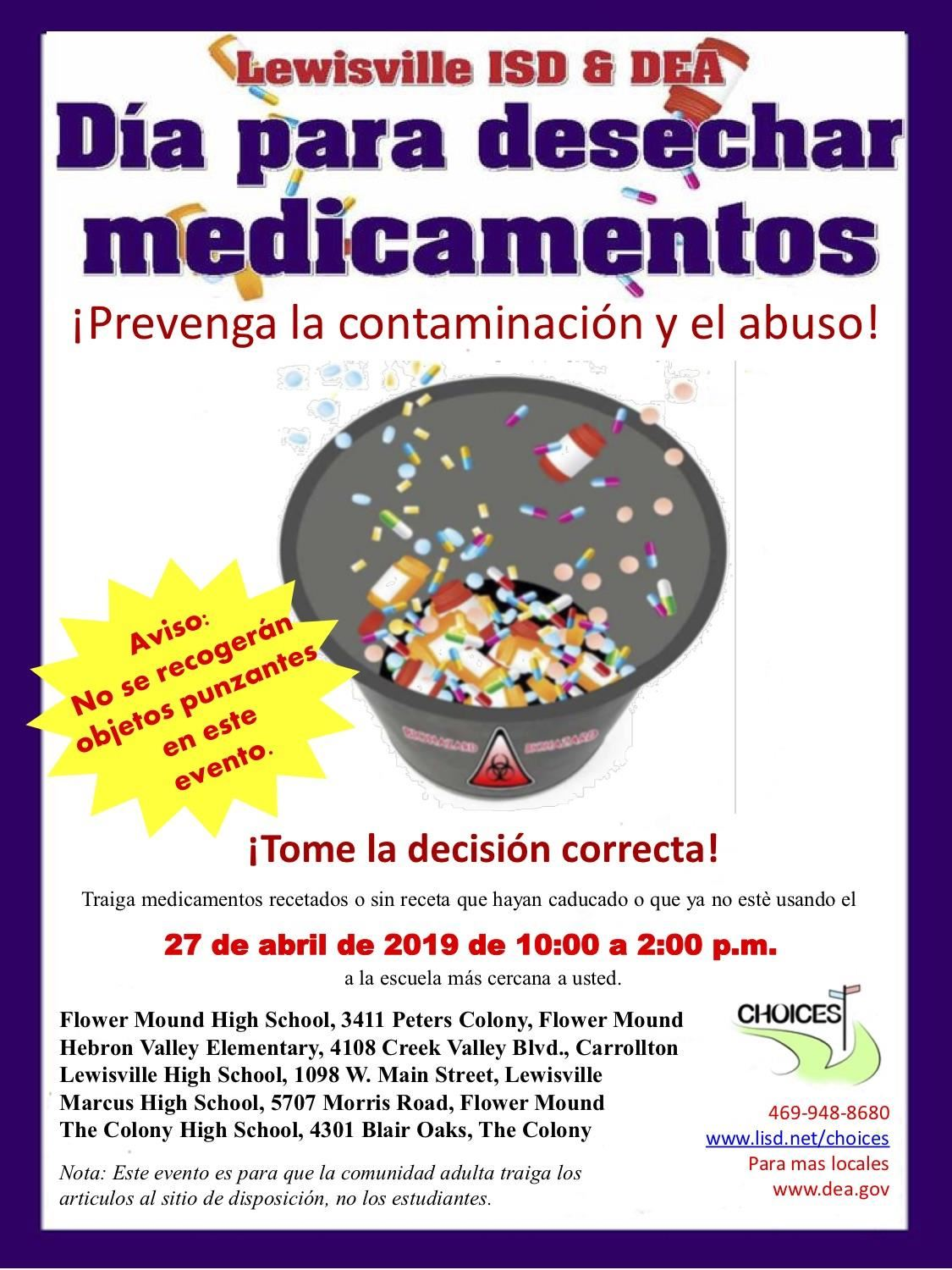Medication Disposal Day Spanish