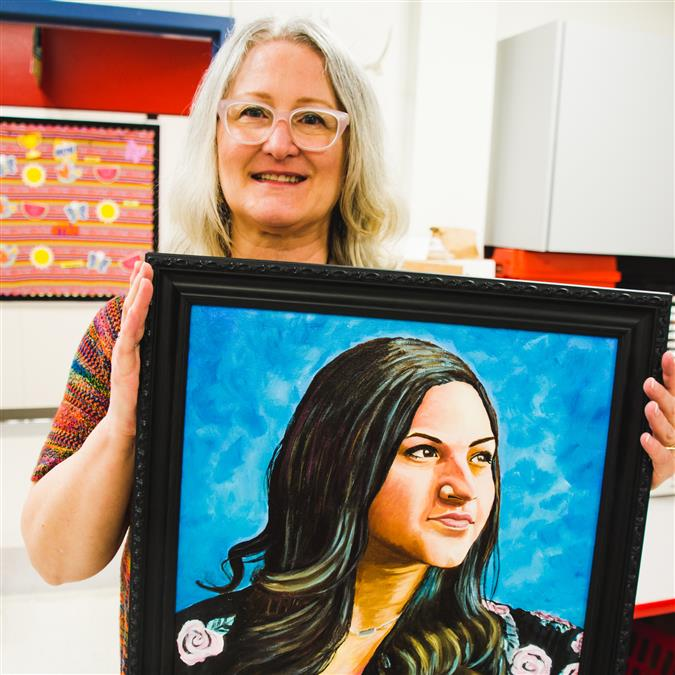 Ethridge Elementary Art Teacher Uses Skills to Memorialize Las Vegas Victim