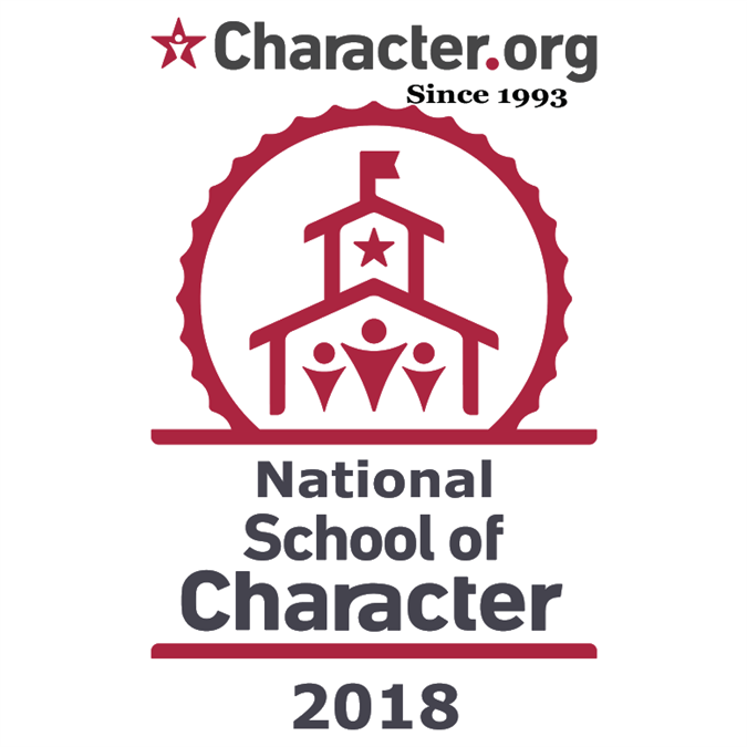 National School of Character 2018 Logo
