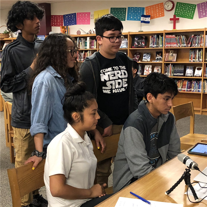 LISD Advanced Spanish Program Students Connect