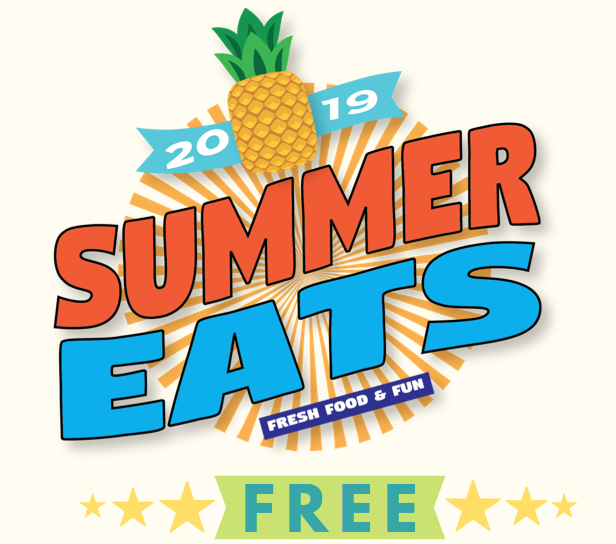 Free summer meals for children 18 years or younger 2019.