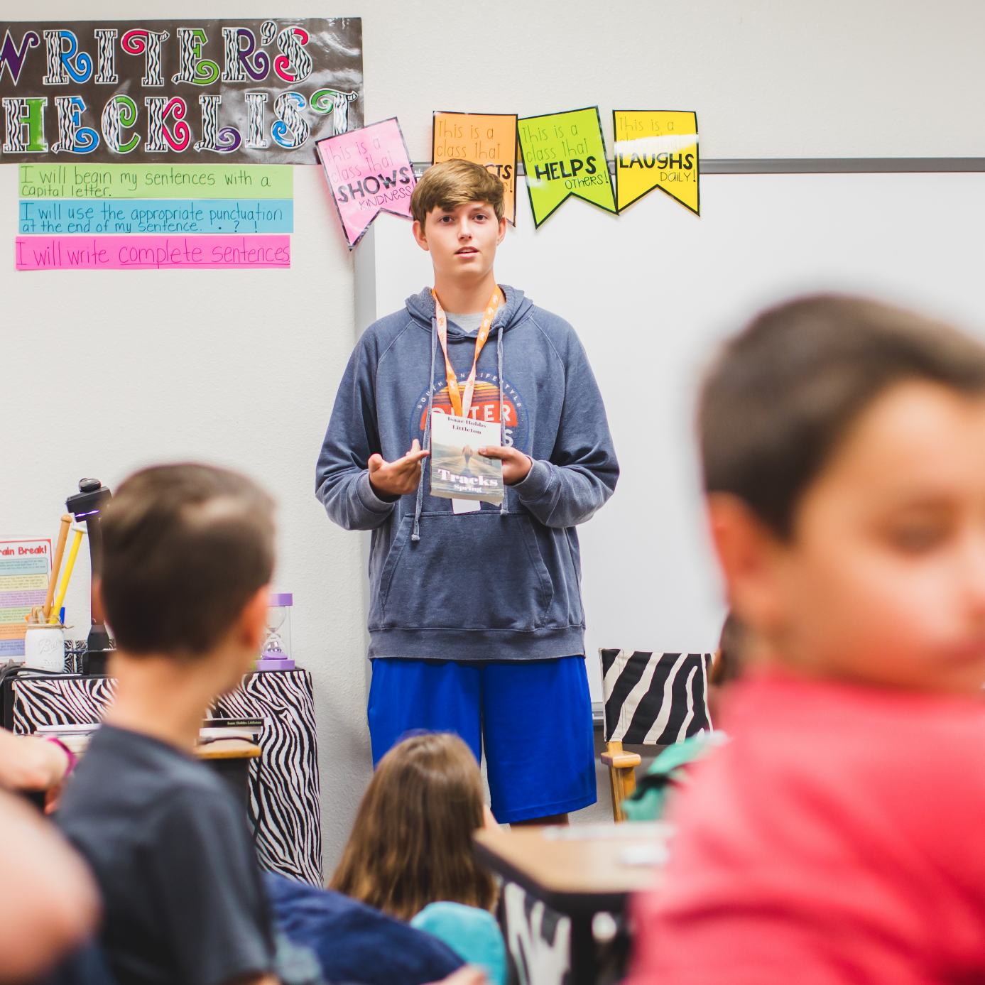 Flower Mound High School Student Visits Former Elementary to Share Love of Writing