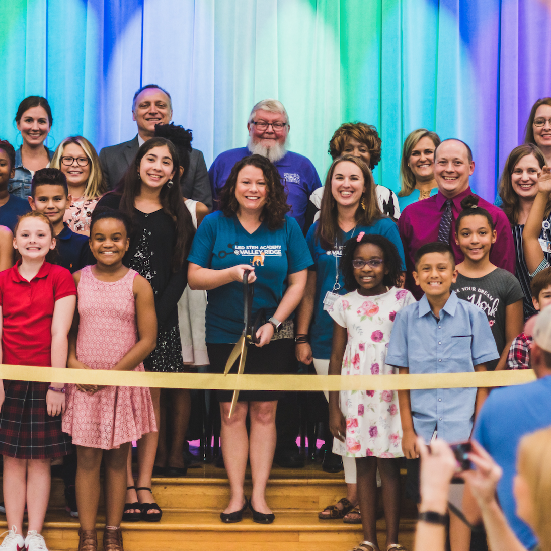 LISD STEM Academy at Valley Ridge Elementary Ribbon Cutting Ceremony small photo 2019.