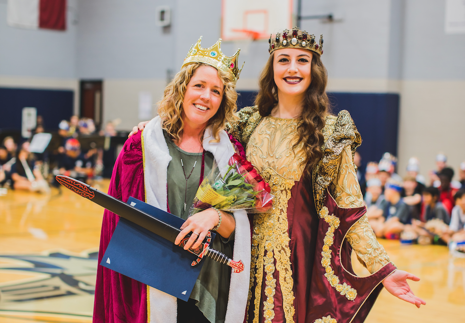 McKamy Middle School's new Teacher of the Year was knighted by Medieval Times' Queen. 2019