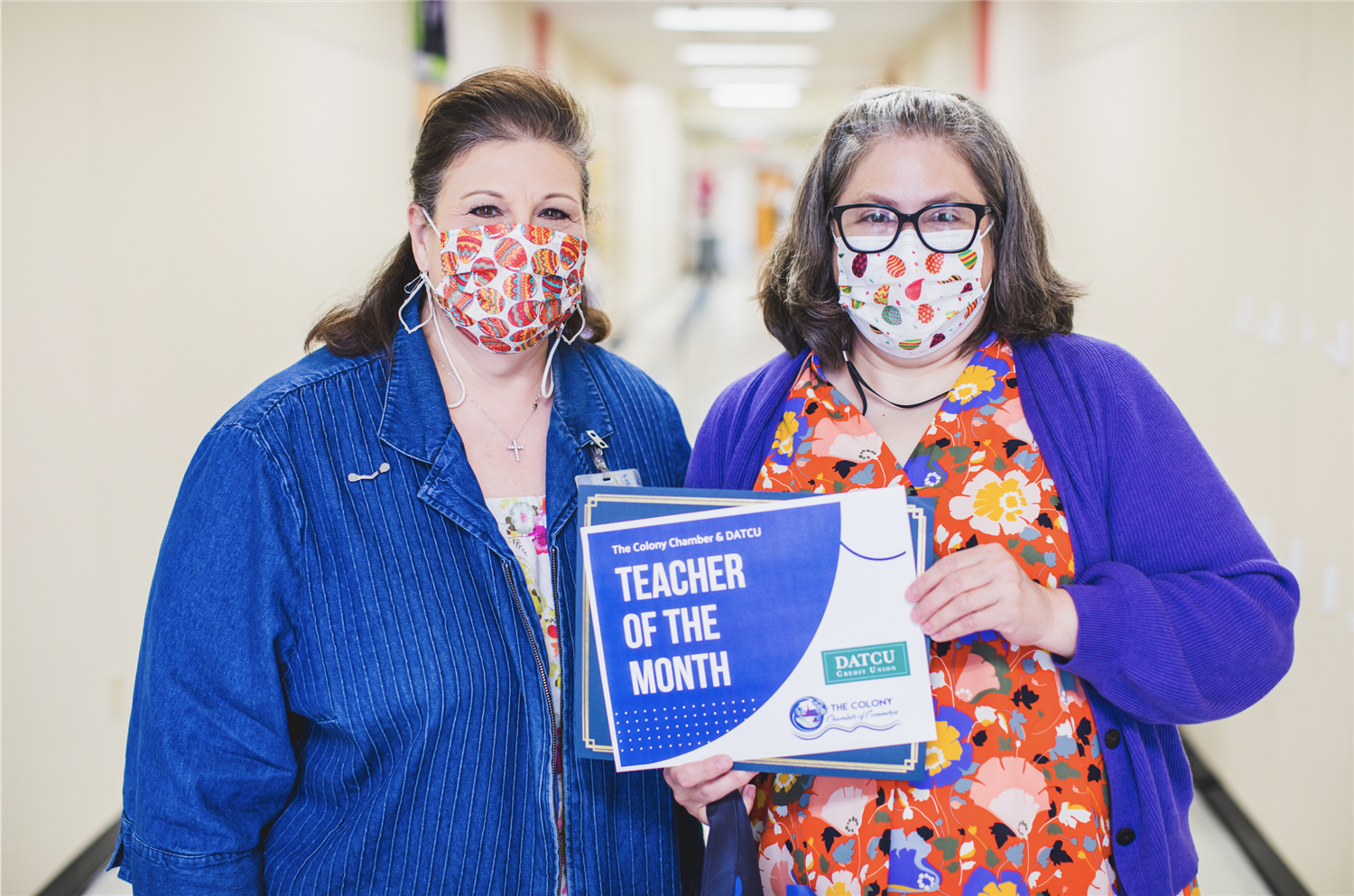 Morningside Elementary Teacher and Student named March 2021 Teacher and Student of the Month.