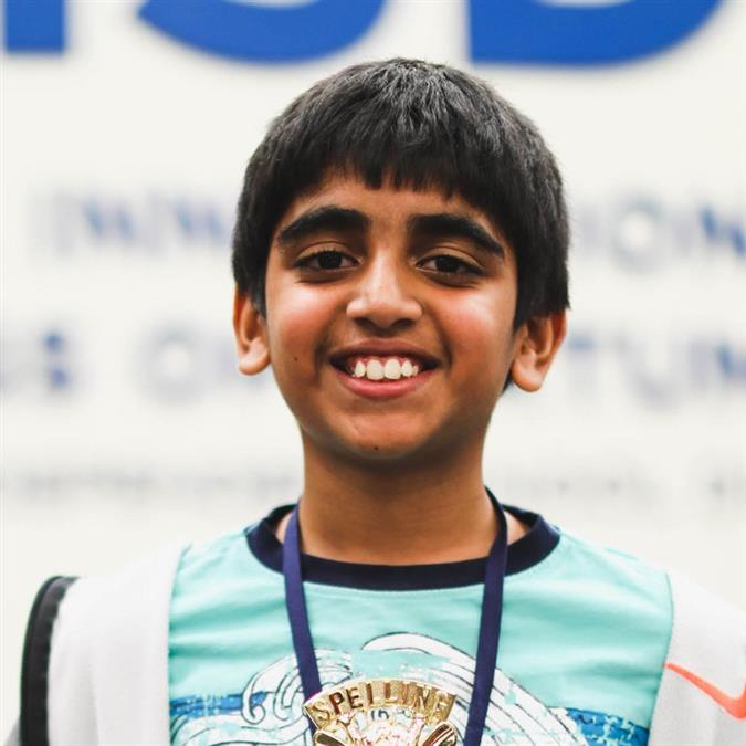 Liberty Elementary's Kodali Takes Third Place at Scripps National Spelling Bee