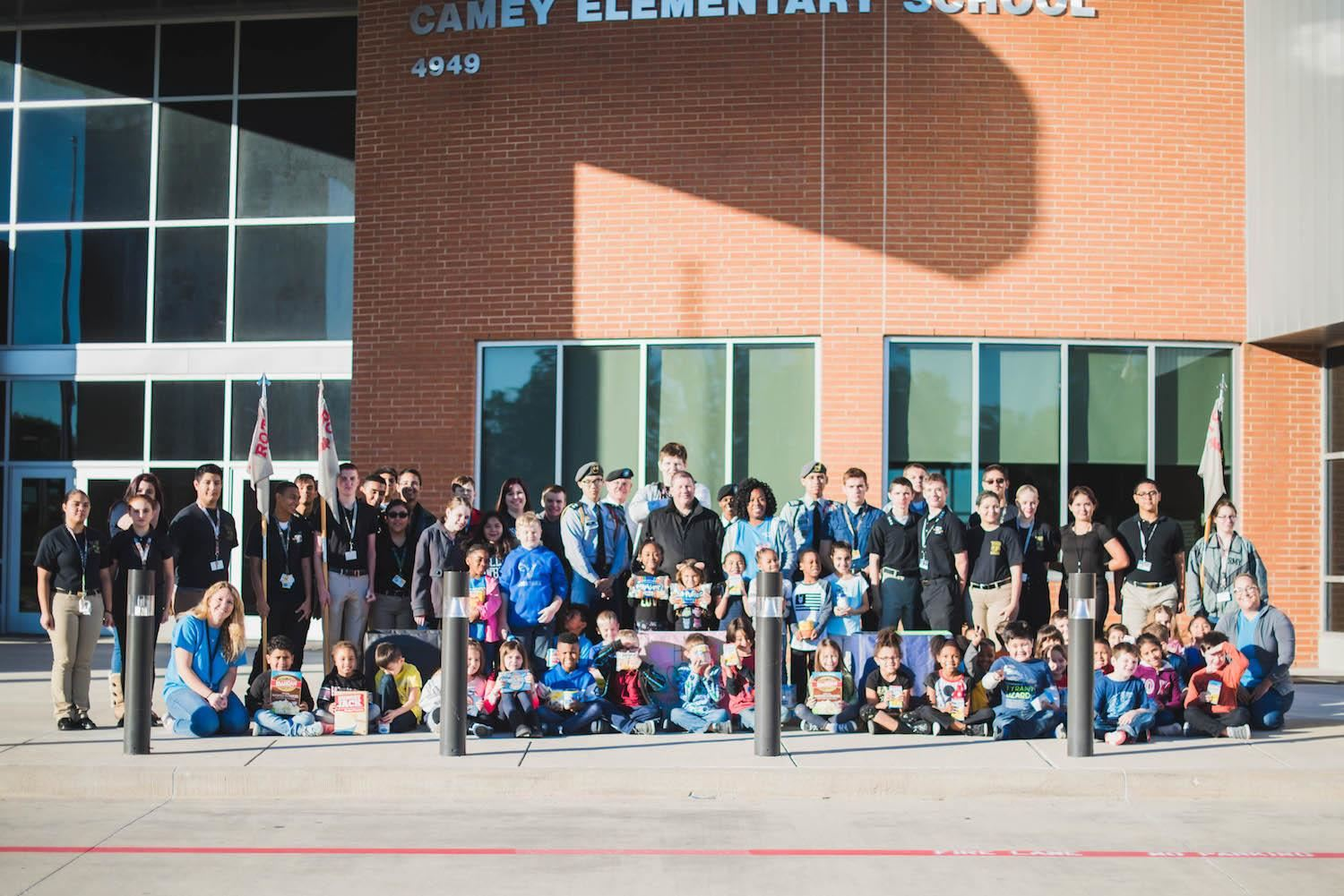 TCHS and Camey elementary students