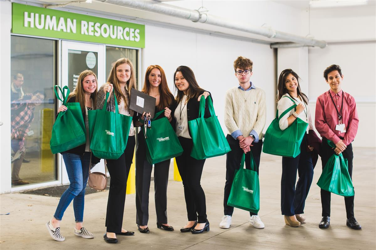 Students visit Nebraska Furniture Mart.