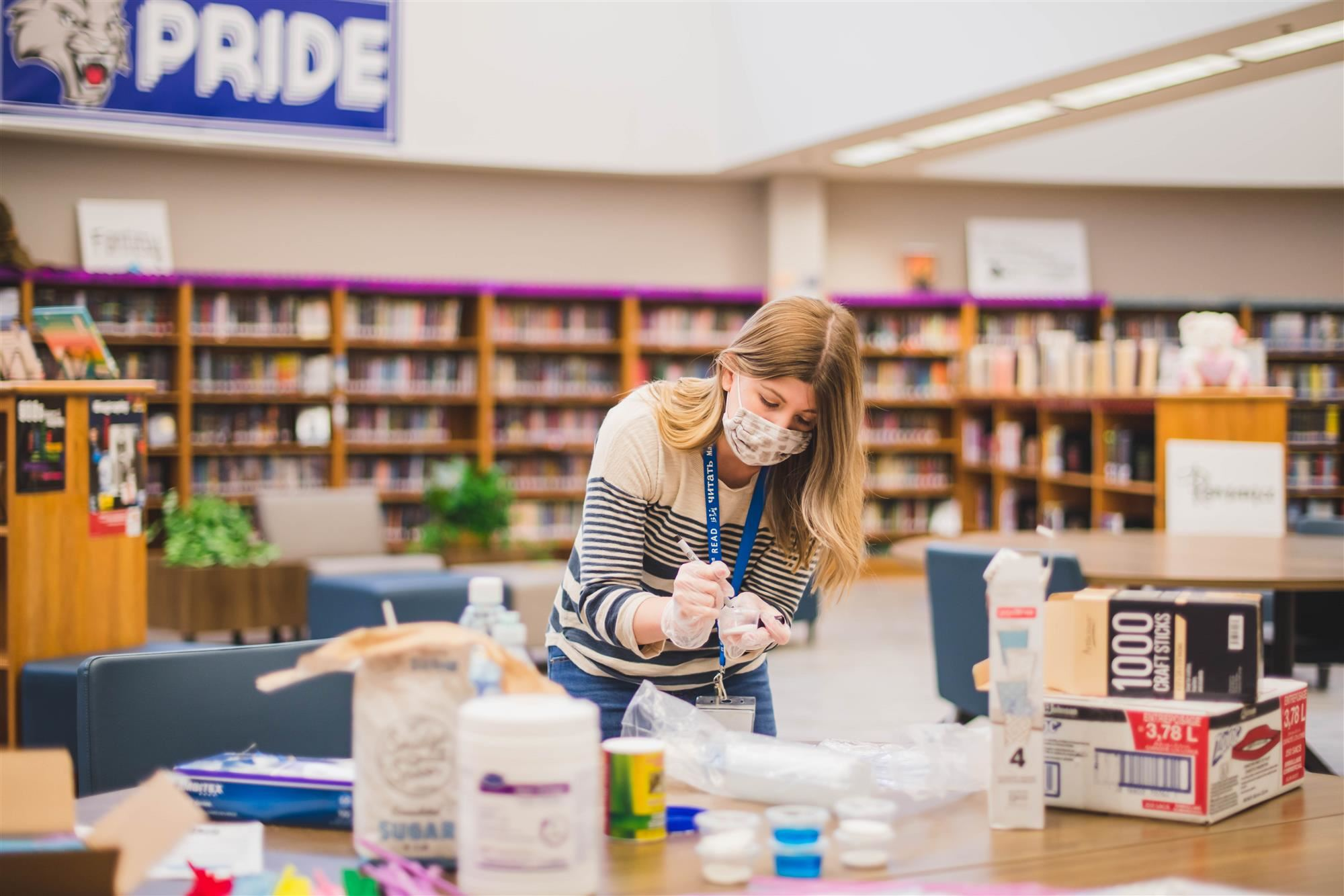 Librarian creates maker space kits for students