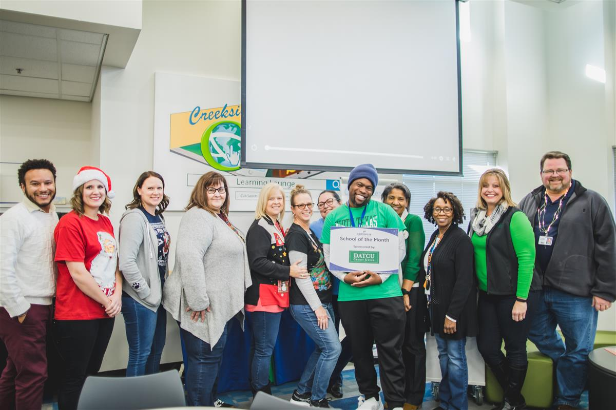 Creekside ES named November 2019 School of the Month