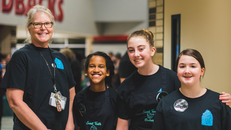 Downing Middle School Bakes for the Troops
