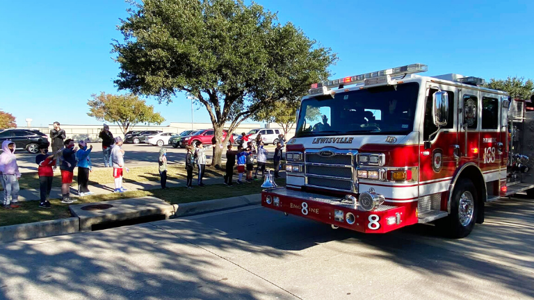 Castle Hills Honors First Responders with Parade