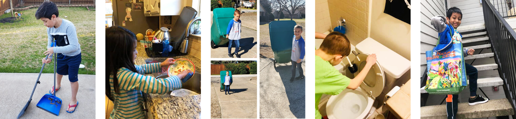 Students do chores at home for others