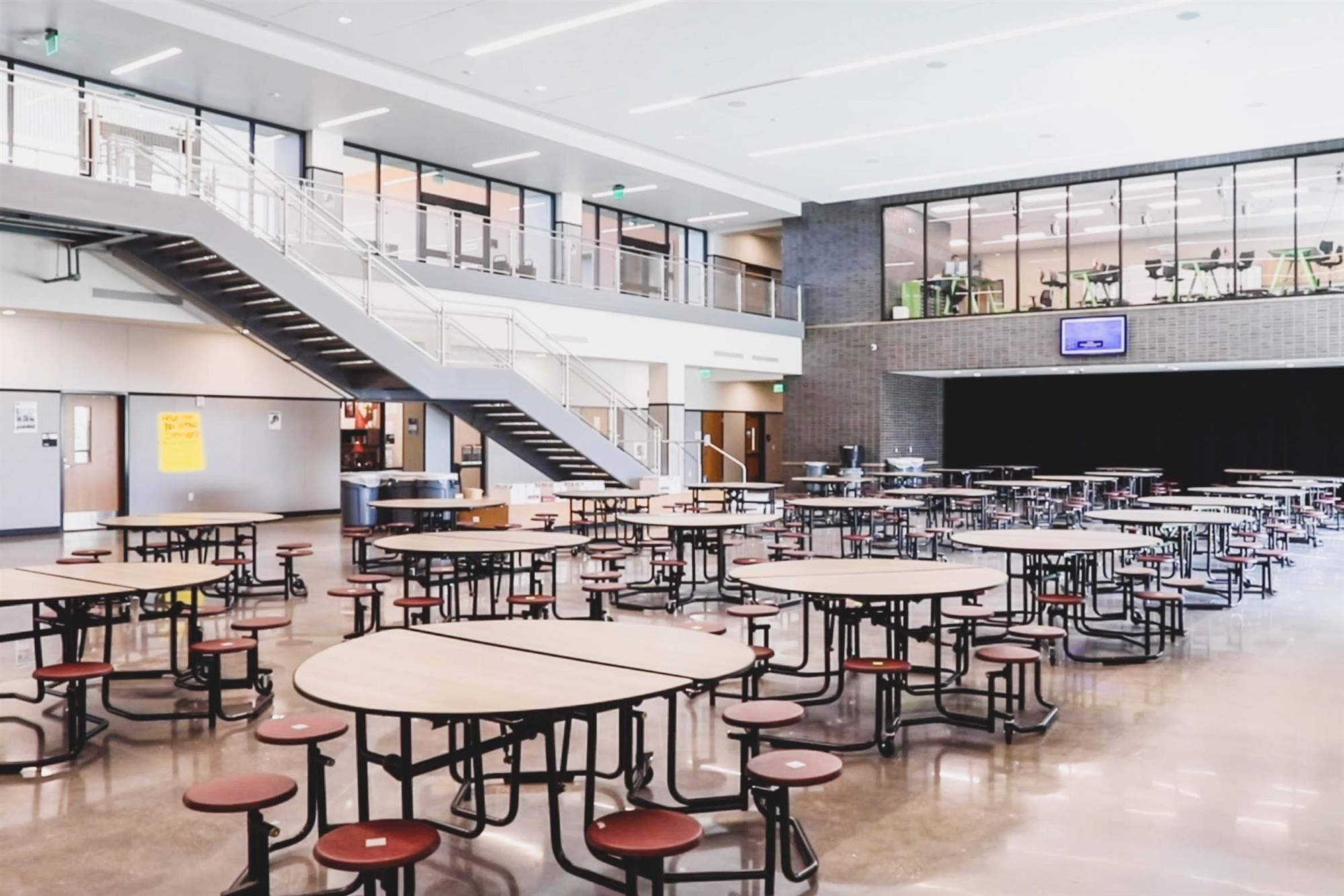 cafeteria in hedrick middle school