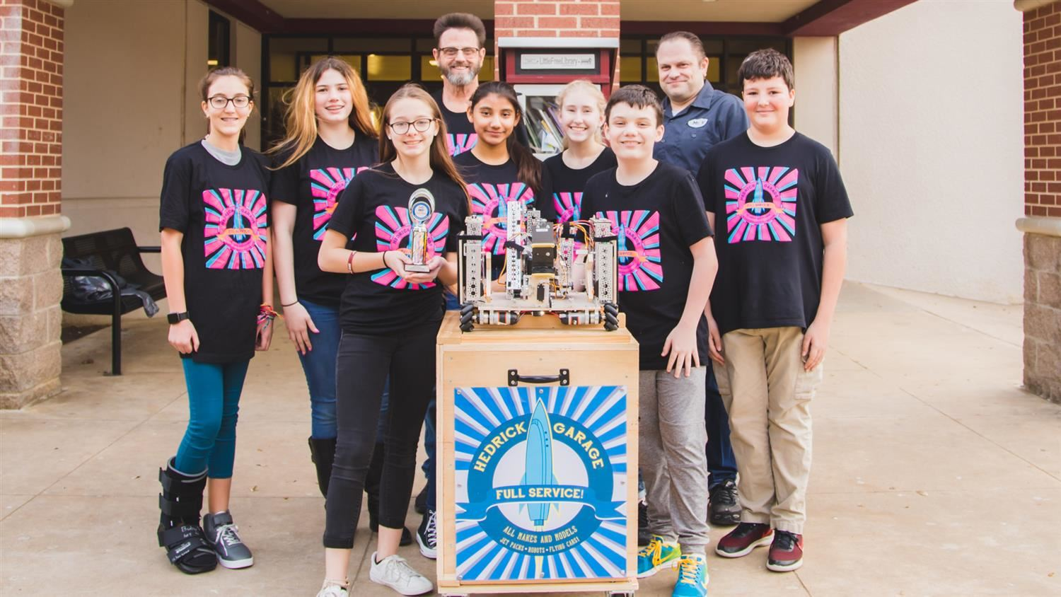 Hedrick Middle School Robotics Thrives Against Older Competition