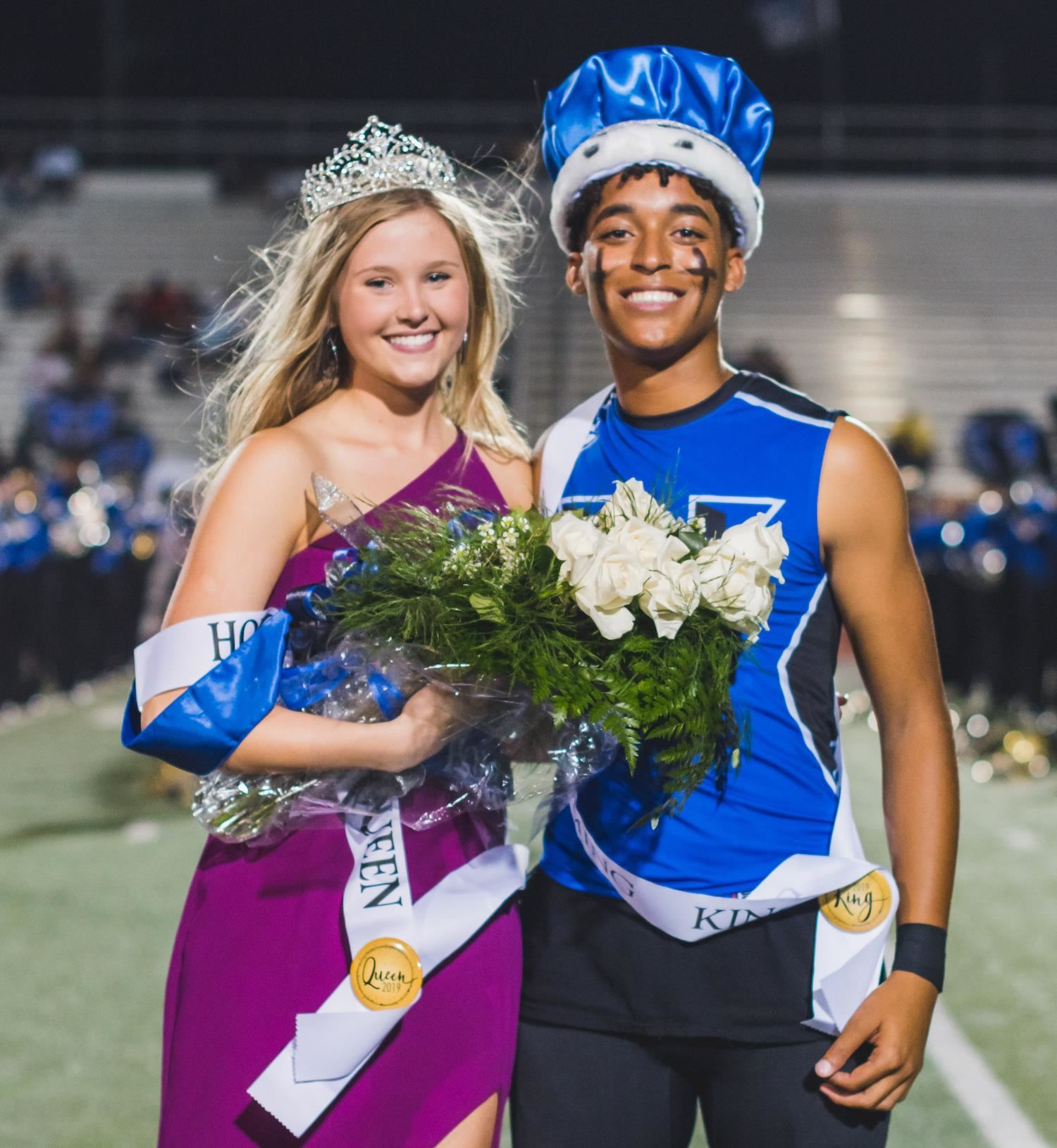 Hebron High School's Homecoming Queen and King