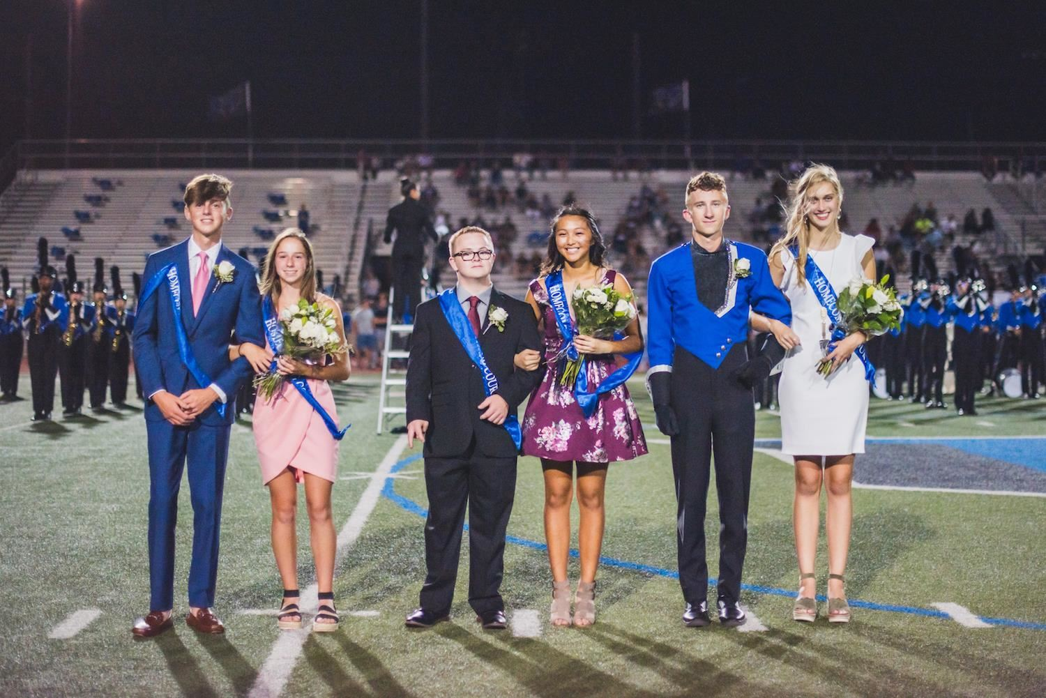 Hebron High School Homecoming Court underclassmen