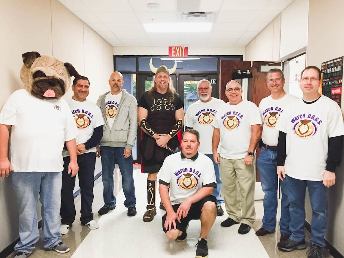 HIghland Village Elementary Watch DOGS dads