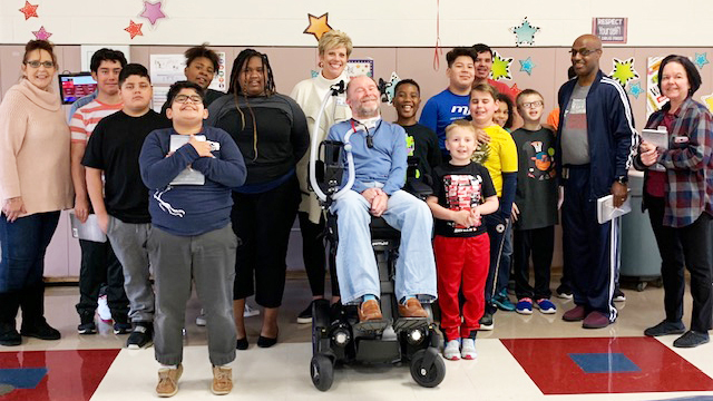 Purnell Support Center Students Treated to Inspirational Author Visit