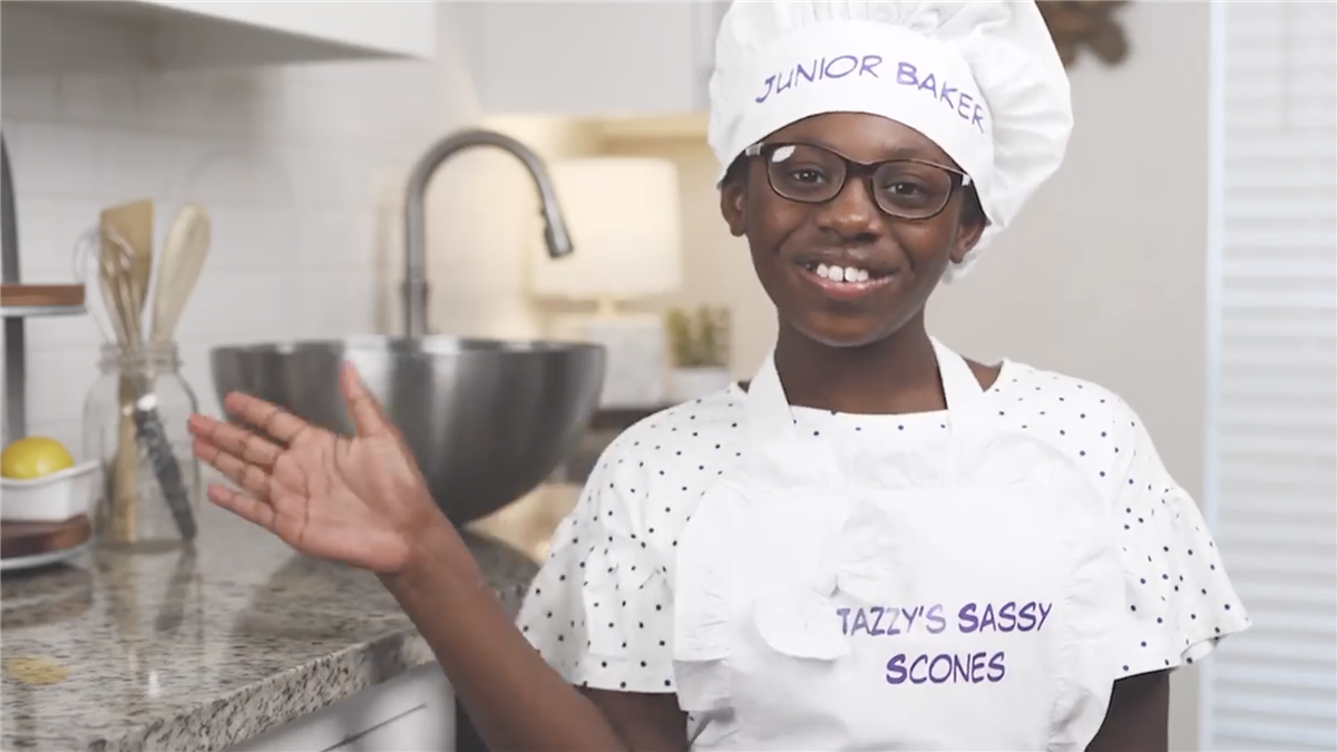 Jasmine Cuchens is the owner of Jazzy's Sassy Scones.